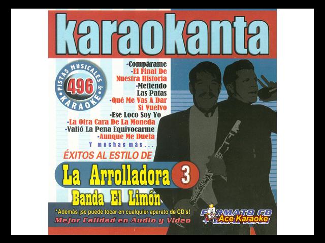 Karaokanta KAR-4496 - Arrolladora Banda El Limon 3 Spanish
