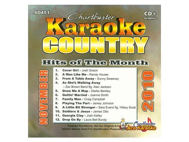 Chartbuster Karaoke CDG CB60451 - Country Hits of the Month November 2010 -  Newegg com