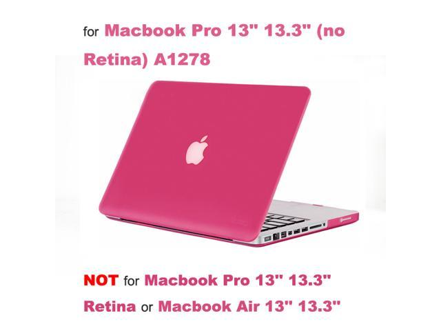 "Rubberized Hard Case Laptop Shell + Keyboard Skin + Screen Protector for  Apple Macbook Pro 13"" 13 3"" (not Retina) A1278 - Rose Red - Newegg com"
