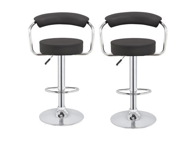 Incredible 2 X Homegear M1 50S Diner Adjustable Swivel Bar Stool Black Lamtechconsult Wood Chair Design Ideas Lamtechconsultcom