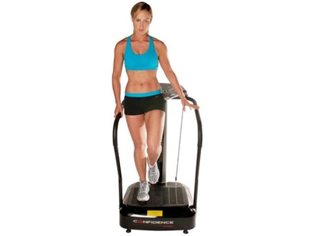Confidence Fitness Whole Body Vibration Plate Trainer Machine White