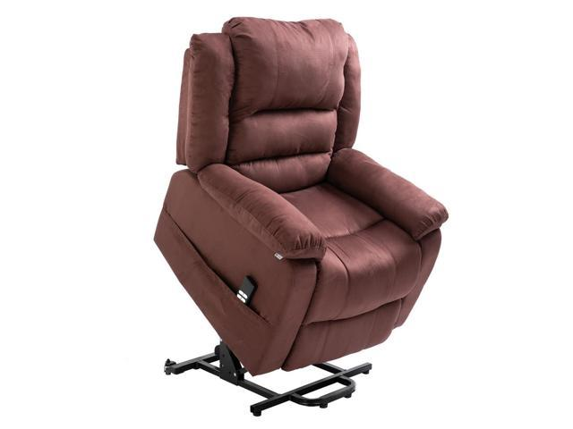 Peachy Homegear Microfiber Dual Motor Power Lift Electric Recliner Chair With Remote Brown Gmtry Best Dining Table And Chair Ideas Images Gmtryco