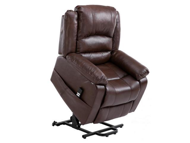 Cool Homegear Air Leather Dual Motor Power Lift Electric Recliner Chair With Remote Brown Newegg Com Beatyapartments Chair Design Images Beatyapartmentscom