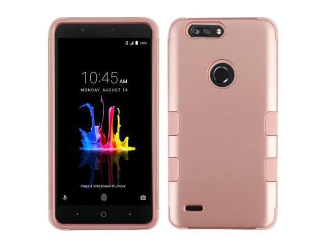 For ZTE Blade Z Max Sequoia Rose Gold/Rose Gold TUFF Hybrid Protector Cover  Case - Newegg com