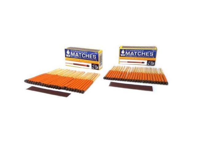 Uco Stormproof Matches, Waterproof And Windproof With 15 Second Burn Time -  50 Matches - Uco - Newegg com