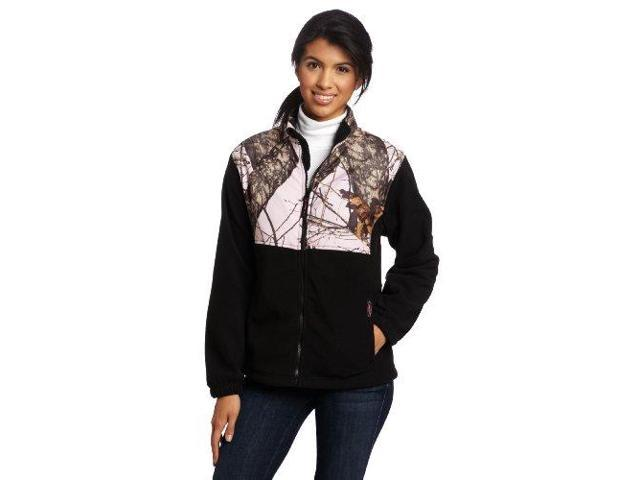 b3d5f165d2300 Yukon Gear Women's Casual Fleece Jacket (Black/Mossy Oak Pink Camo, Small -