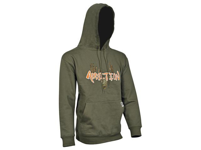 1983a819742ae Yukon Gear Men's Cotton Hooded Sweatshirt, Olive/Blaze, Medium - HSSZ-S