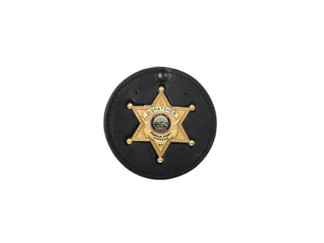 Boston Leather Hard Leather Recessed Circle Badge Holder, Blackinton #B1544  - Newegg com