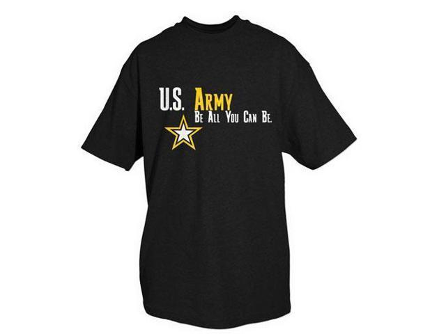 a3d410ce Black U.S Army Be All You Can Be Imprinted 1 Sided T - Shirt, Short ...