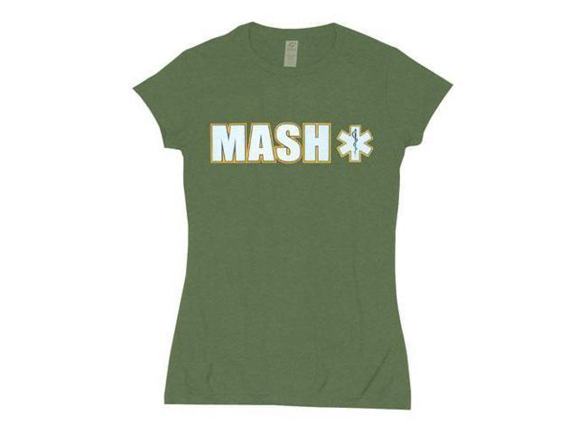 dce6a108a38 Olive Drab MASH Womens SS Cotton Tee - USA Made Short Sleeve T - Shirt
