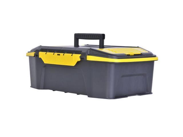 "6.6/""H x STANLEY STST19950 19/""W Plastic Yellow//Black Portable Tool Box Matte"