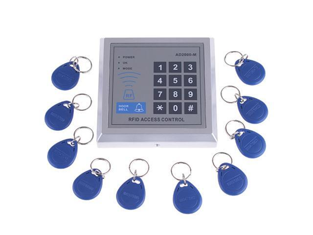 Rfid Proximity Door Entry Access Control System 10 Key Fobs