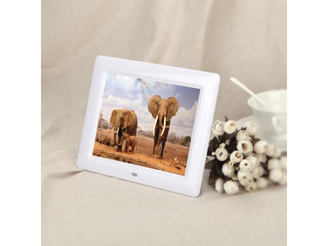 7\'\' HD TFT-LCD Digital Photo Frame with Slideshow Alarm Clock MP3 ...