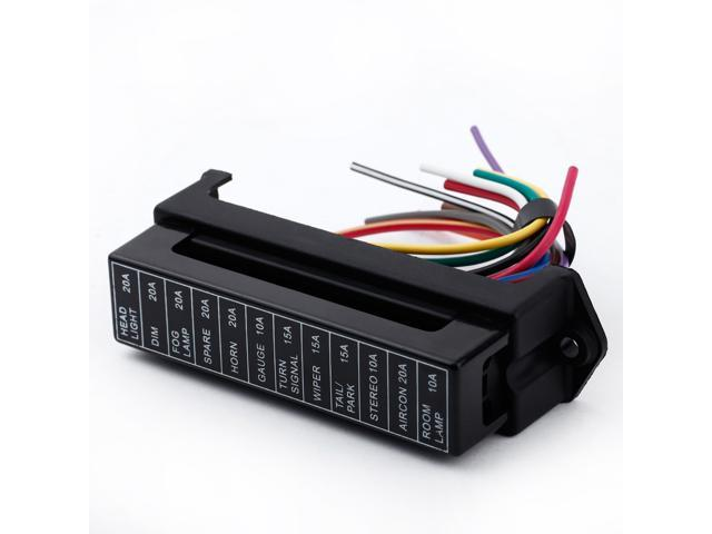 12 way dc32v circuit car auto blade fuse box block holder atc ato 2  12 way dc32v circuit car auto blade fuse box block holder atc ato 2 input