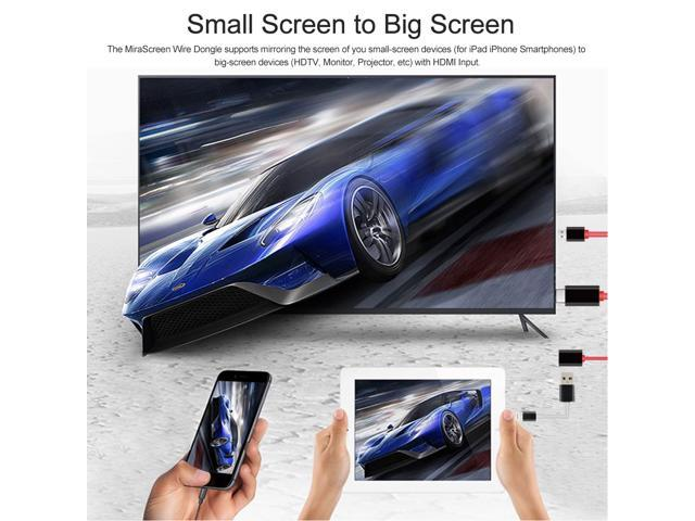 USB Female to HDMI Cable MiraScreen Wire Display Dongle 1080P Airplay  Mirroring Plug and Play Wired Same Screen USB Power for iPhone 7 Plus 6S  6Plus