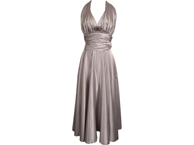 Marilyn Satin Halter Bridesmaid Dress Junior Plus Size Holiday Prom Gown -  Newegg.com