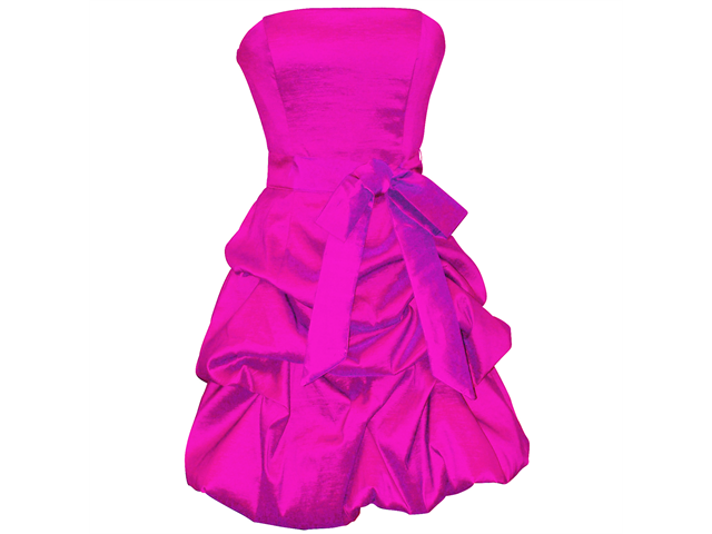 Strapless Taffeta Bubble Dress with Pull-Ups Formal Gown Prom ...