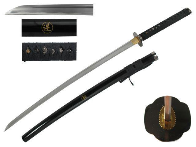 41 inch Musha Hand Forged Reverse Blade Samurai Sword, Black - Newegg com