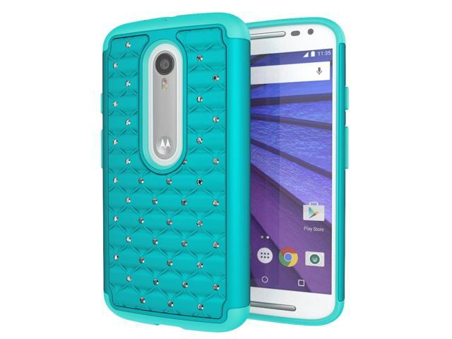 cheaper 134a8 b583c Moto X Pure Edition (Moto X Style) Case, Cimo [Shockproof] Heavy Duty Shock  Absorbing Hybrid Stud Rhinestone Bling Dual Layer Protection Cover for ...