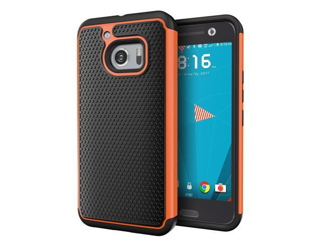 on sale 6bfd6 a2c4a HTC 10 Case, Cimo [Shockproof] Case Heavy Duty Shock Absorbing Dual Layer  Protection Cover for HTC One 10 (2016) - Orange - Newegg.com