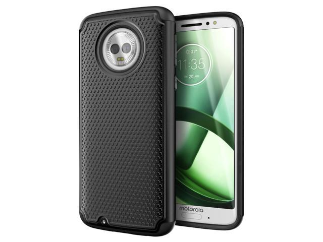 new style a2d9f 70b29 Cimo Armor Moto G6 Case with Shockproof Dual Layer Protection and Rugged  Hybrid Shell for Motorola Moto G6 - Black - Newegg.com