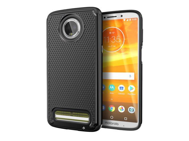 pretty nice 3fe4b b7770 Cimo Armor Moto Z3 Play Case with Shockproof Dual Layer Protection and  Rugged Hybrid Shell for Motorola Moto Z3 Play - Black - Newegg.com