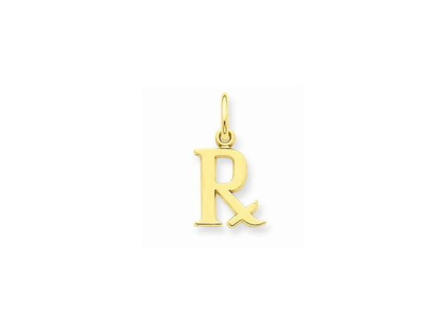14k Yellow Gold Prescription Symbol Rx Pendant Newegg