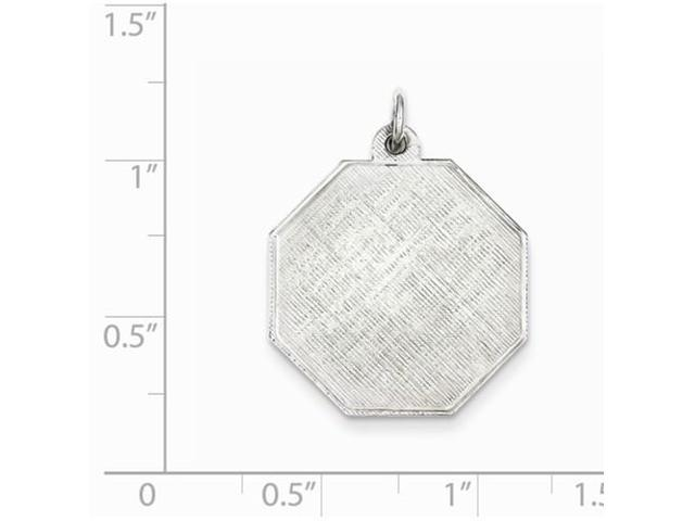 Sterling Silver Engraveable Disc Charm 0.9IN long x 0.6IN wide