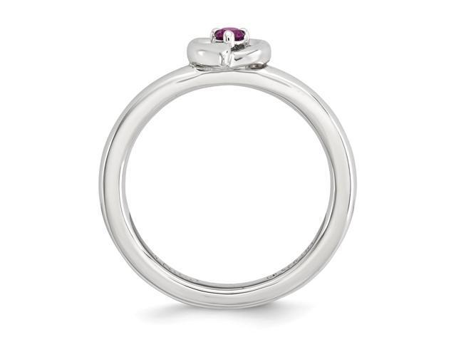 384ffba385d74 Sterling Silver W/ Rhodium-plated Stackable Expressions Rhodolite Garnet  Heart Ring - Newegg.com