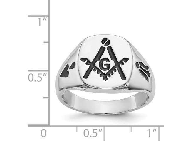 14k White Gold Men's Masonic Ring - Newegg com