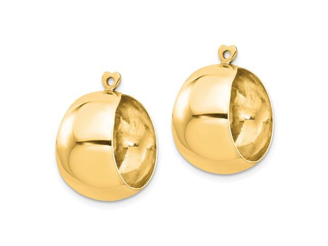 14kt Yellow Gold Polished Hoop Earring Jackets