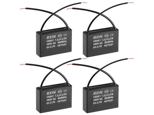 run capacitor wiring cbb61 run capacitor 450v ac 1 2uf 2 wires metallized polypropylene motor run capacitor wiring diagram cbb61 run capacitor 450v ac 1 2uf 2