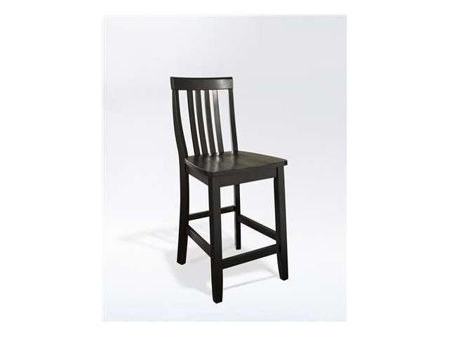 Super Crosley School House Bar Stool In Black W 24 Inch Seat Height Newegg Com Machost Co Dining Chair Design Ideas Machostcouk