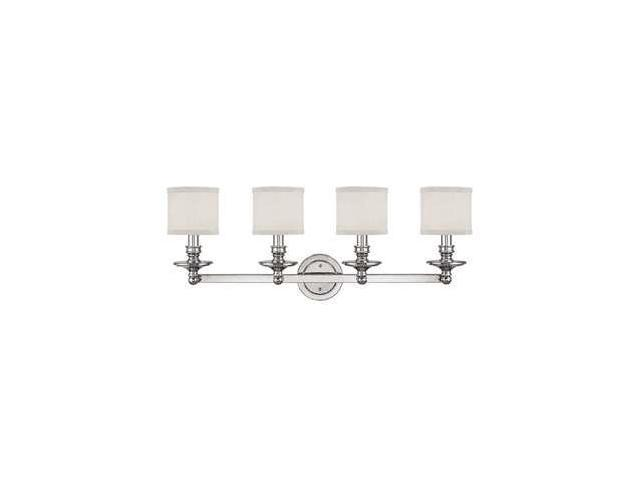 Capital Lighting 4 Light Vanity Fixture Brushed Nickel: Capital Lighting Midtown 4 Light Vanity Fixture, Polished