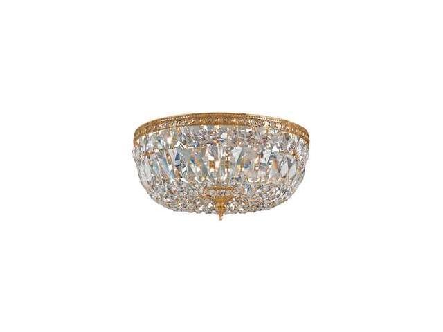Crystorama 712-OB-CL-SAQ Crystal Three Light Ceiling Mounts from Richmond collection in Brassfinish,