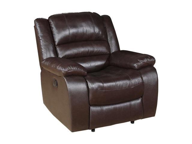 Astounding Flash Furniture Contemporary Brown Leather Recliner And Ottoman With Swiveling Mahogany Wood Base Dailytribune Chair Design For Home Dailytribuneorg
