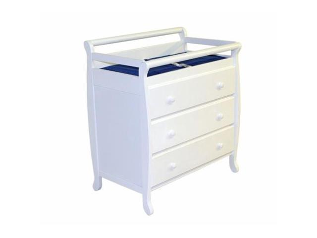 Dream On Me Liberty Collection 3 Drawer Changing Table, White   601 W