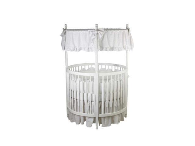 Dream On Me Sophia Posh Circular Crib White 669 W Newegg Com