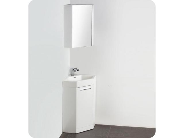 . Fresca FVN5084WH Coda 18 in  White Modern Corner Bathroom Vanity    Newegg com