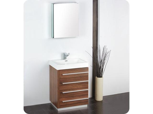 Fresca FVN8024GW Livello 24 In. Walnut Modern Bathroom