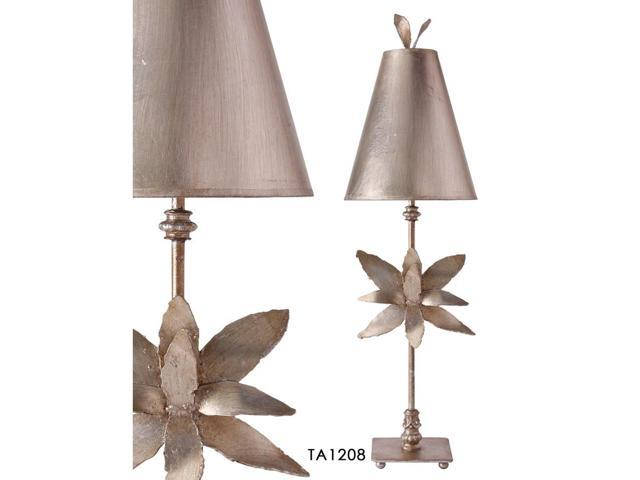 Flambeau Lighting Silver Azalea Table Lamp Ta1208 Newegg