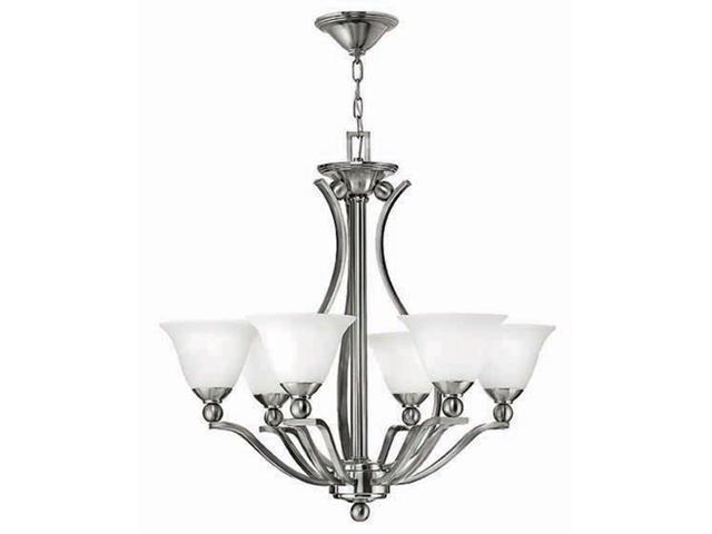 Hinkley Lighting Bolla 6 Light Chandelier 1 Tier Foyer Brushed Nickel 4656bn Newegg