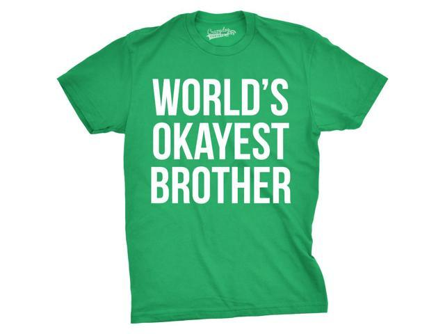 7a90ec2f0 Mens Worlds Okayest Brother Shirt Funny T shirts Big Brother Sister Gift  Idea (Green)