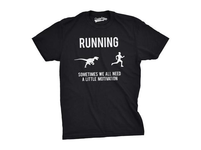 910425ef Mens Running Motivation Raptor Chase T Shirt Funny Dinosaur Tee For Guys  (Black) -