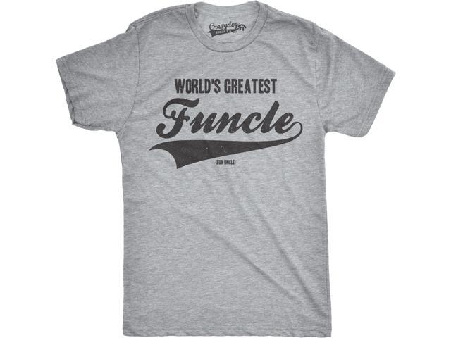 e613b8fe Mens Worlds Greatest Funcle Funny Fun Uncle Family Relationship T shirt  (Grey) S