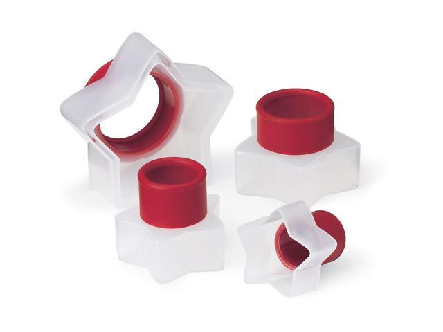 NEW Round Fluted Snap Fit Cookie Cutters Set of 5 from Cuisipro 395
