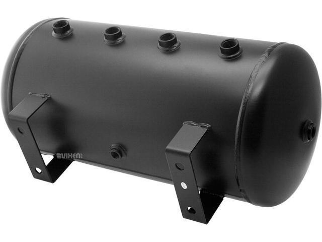 Vixen Air 6 Gallon 22 Liter Steel Tank with Dual 200 PSI Black Compressor Onboard System//Kit for Suspension//Train Horn 12V VXO4863DB