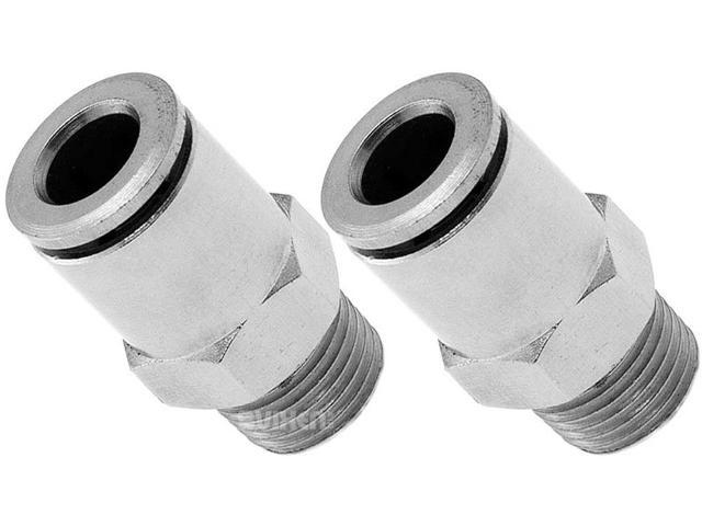 Vixen Air 1//4 NPT Male to Push to Connect PTC for 1//4 OD Hose Swivel Elbow VXA2424