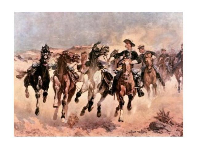 Turn Him Loose Bill  by Frederic Remington   Paper Print Repro