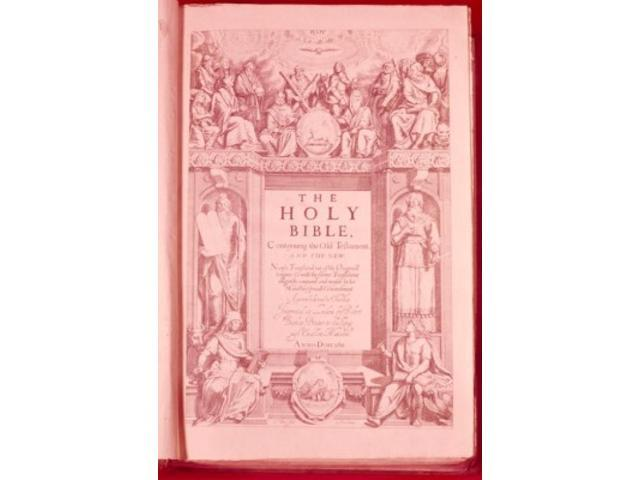Posterazzi SAL900101724 Title Page of King James Bible Lithograph USA New  York New York City American Bible Society 1611 Ad - 18 x 24 in  - Newegg com